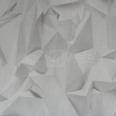 Origami Effect Geometric Wallpaper in Off White and Grey