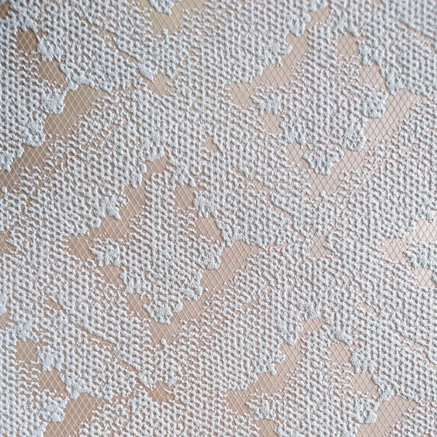 Lace Ikat Grey Brown Rose Gold Copper Geometric Wallpaper