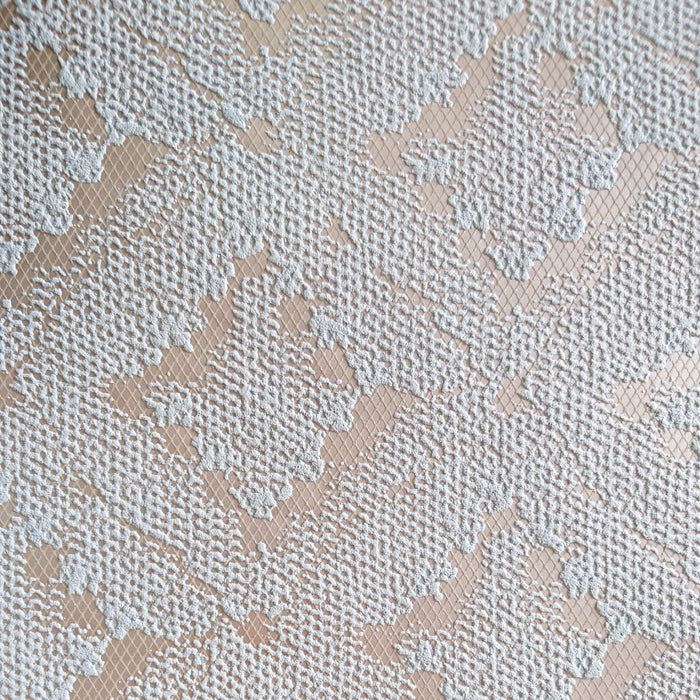 Lace Ikat | Grey / Brown & Rose Gold / Copper Geometric Wallpaper
