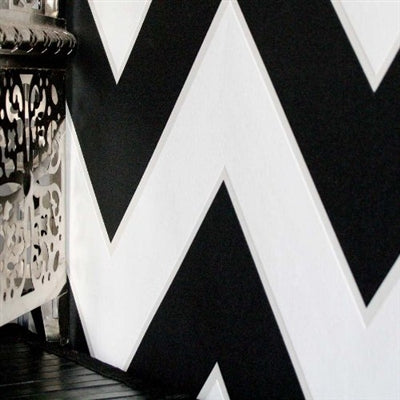 Zig Zag Geometric Wallpaper | Black & White - Your 4 Walls