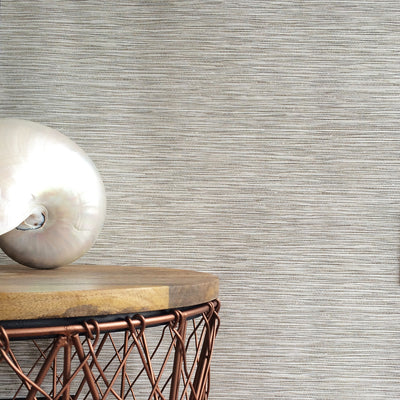 Grasscloth Effect| Metallic Off White & Natural Wallpaper - Your 4 Walls