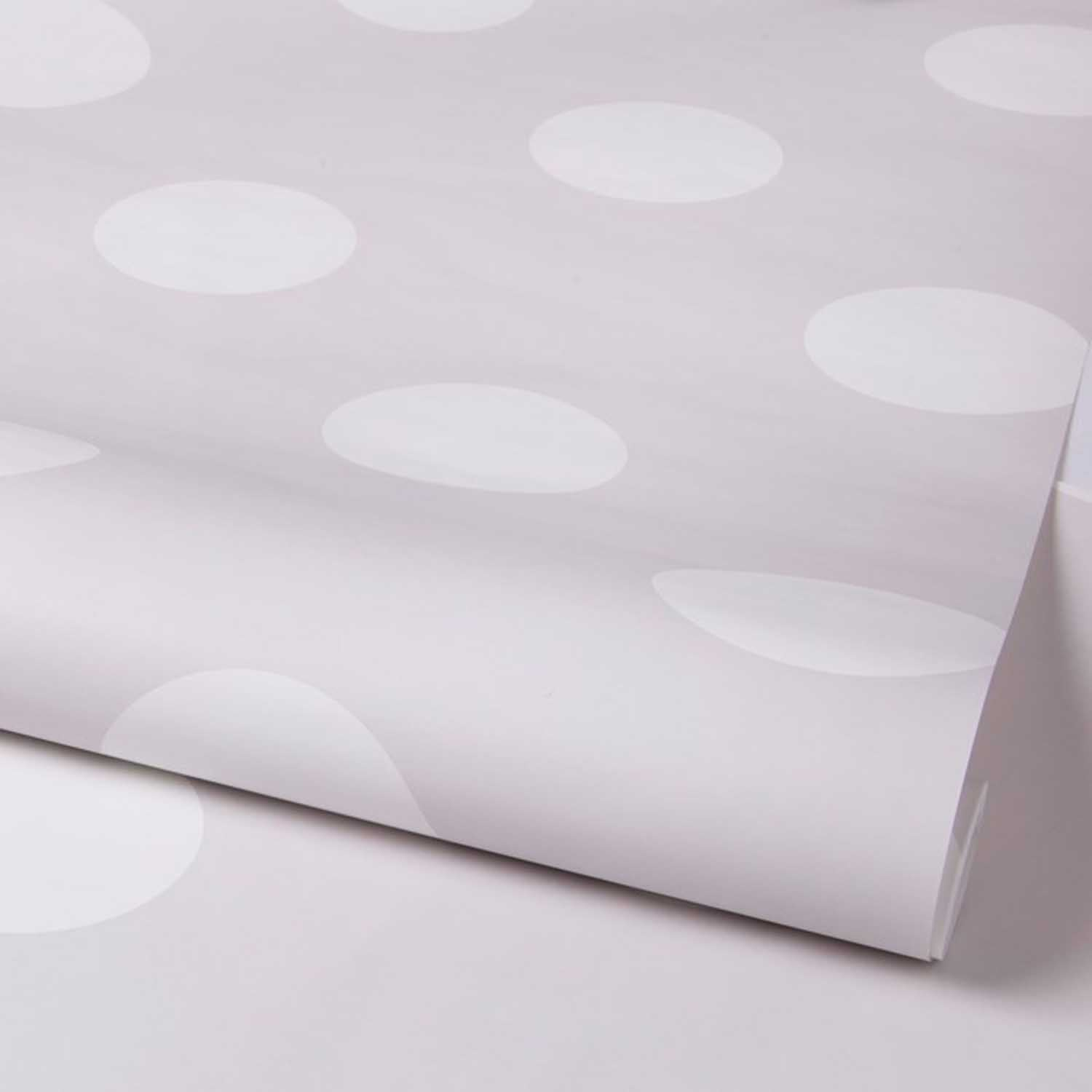 Polka Dots/Spots Wallpaper | Grey & White