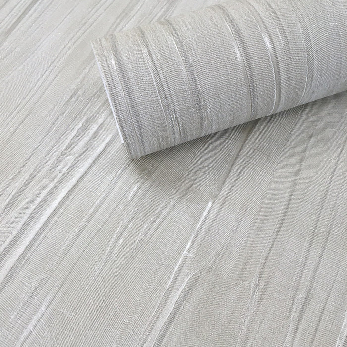 Luxe Satin Italian Heavy Weight Wallpaper | Taupe / Cream