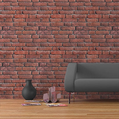 Koziel Brick Red, Textured Brick Effect Wallpaper - Your 4 Walls