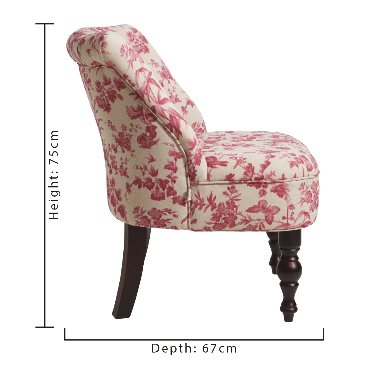 Oasis Odette Amelia Raspberry Designer Accent Chair