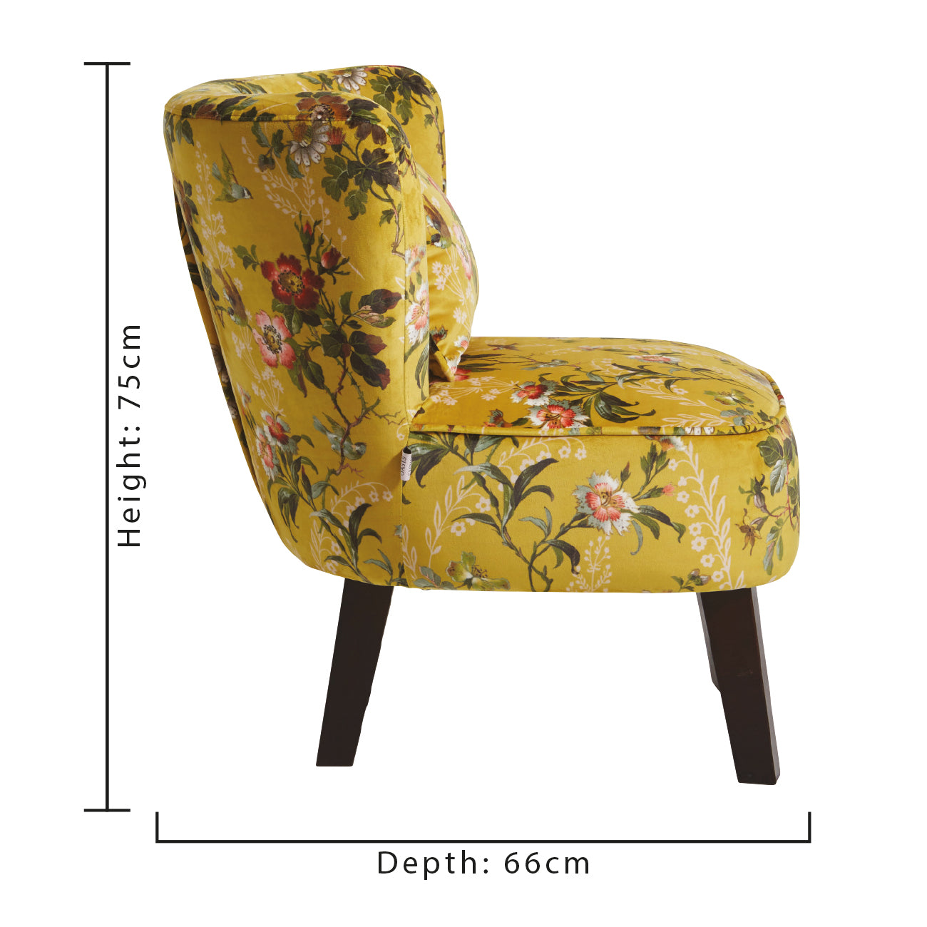 Oasis Monika Leighton Ochre Designer Accent Chair