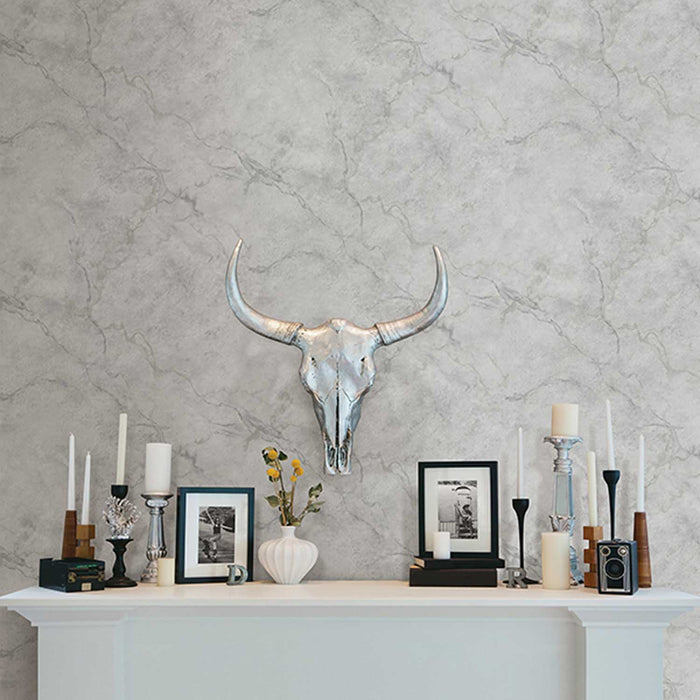 Marble Effect Wallpaper | Dark Grey & Light Grey