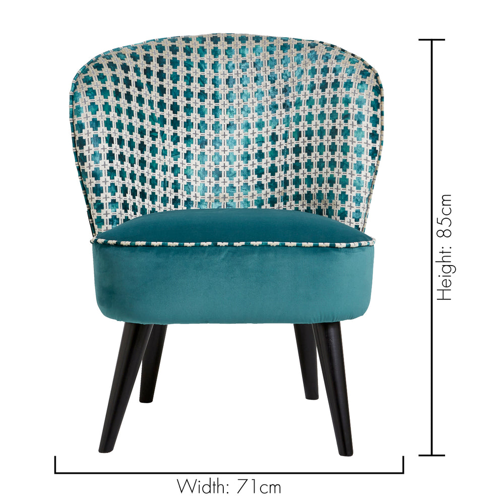Ascot Floral Designer Accent Chair in Maui Kingfisher Green - Your 4 Walls