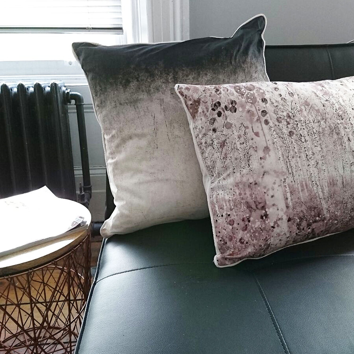 Ombre | Cushion in Black & Off White