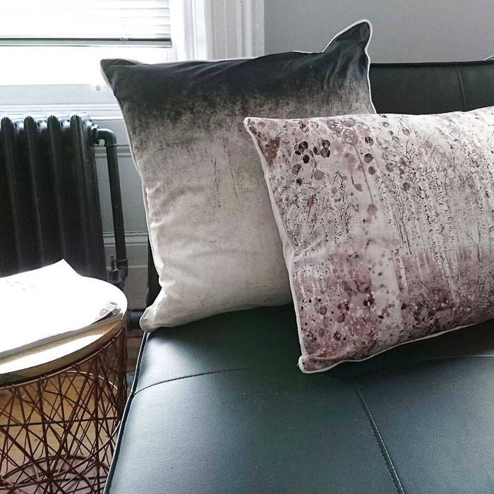 Watercolour Forest | Cushion in Dusky Pink & Natural Tones