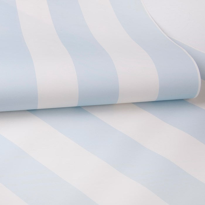 Stunning Stripe  Wallpaper | Pastel Blue & White