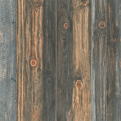 Reclaimed Textured Wood Effect Wallpaper Charcoal Amp Blue