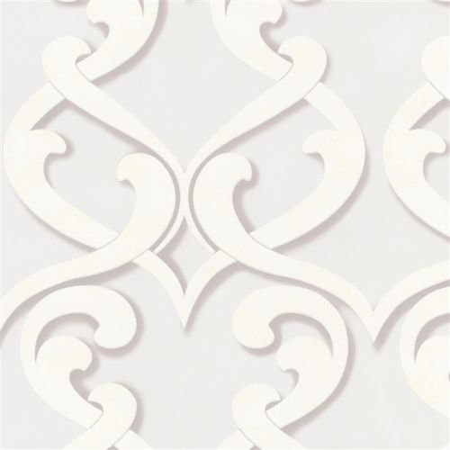 SALE Large Damask Wallpaper Textured Wallpaper | Off White, Beige & Cream