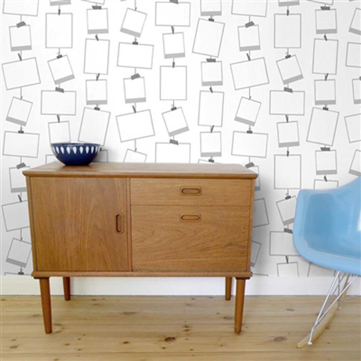 Great Value: Snapz Wallpaper | Grey & White