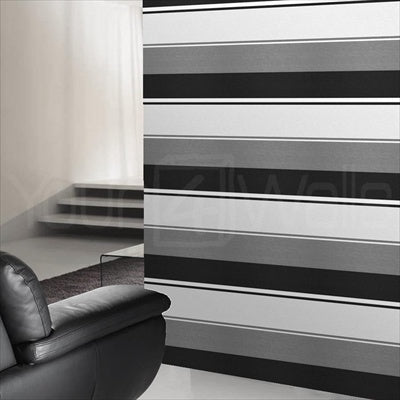 Spice Stripe | Black, Grey & White