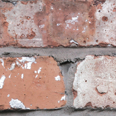 'Holcombe' Red Brick Effect Wallpaper - Your 4 Walls