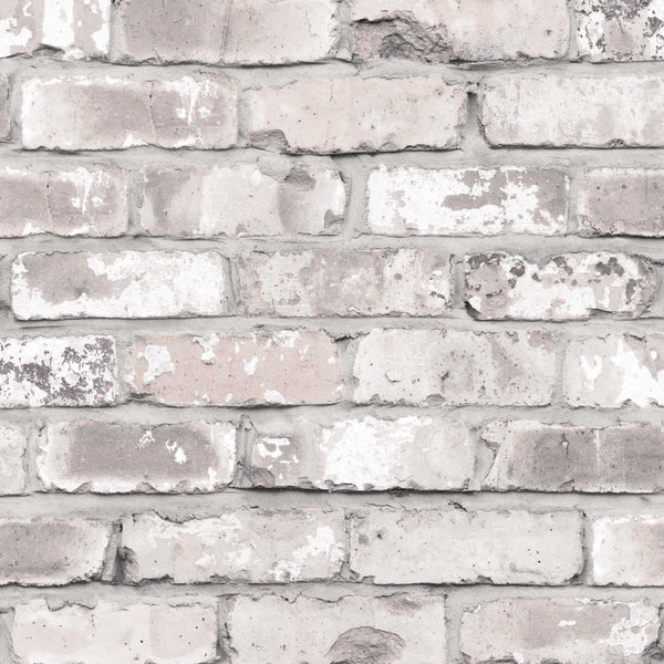 Irwell Brick Effect Wallpaper White Grey Amp Cream Your