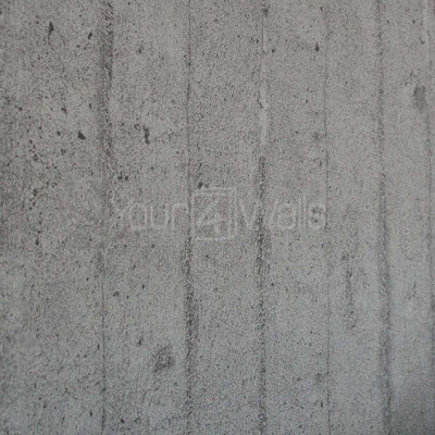 Textured Concrete Slab Effect Wallpaper | Grey - Your 4 Walls