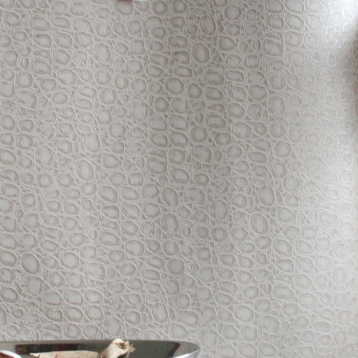 Alligator Skin Effect Wallpaper | Taupe & Shimmer
