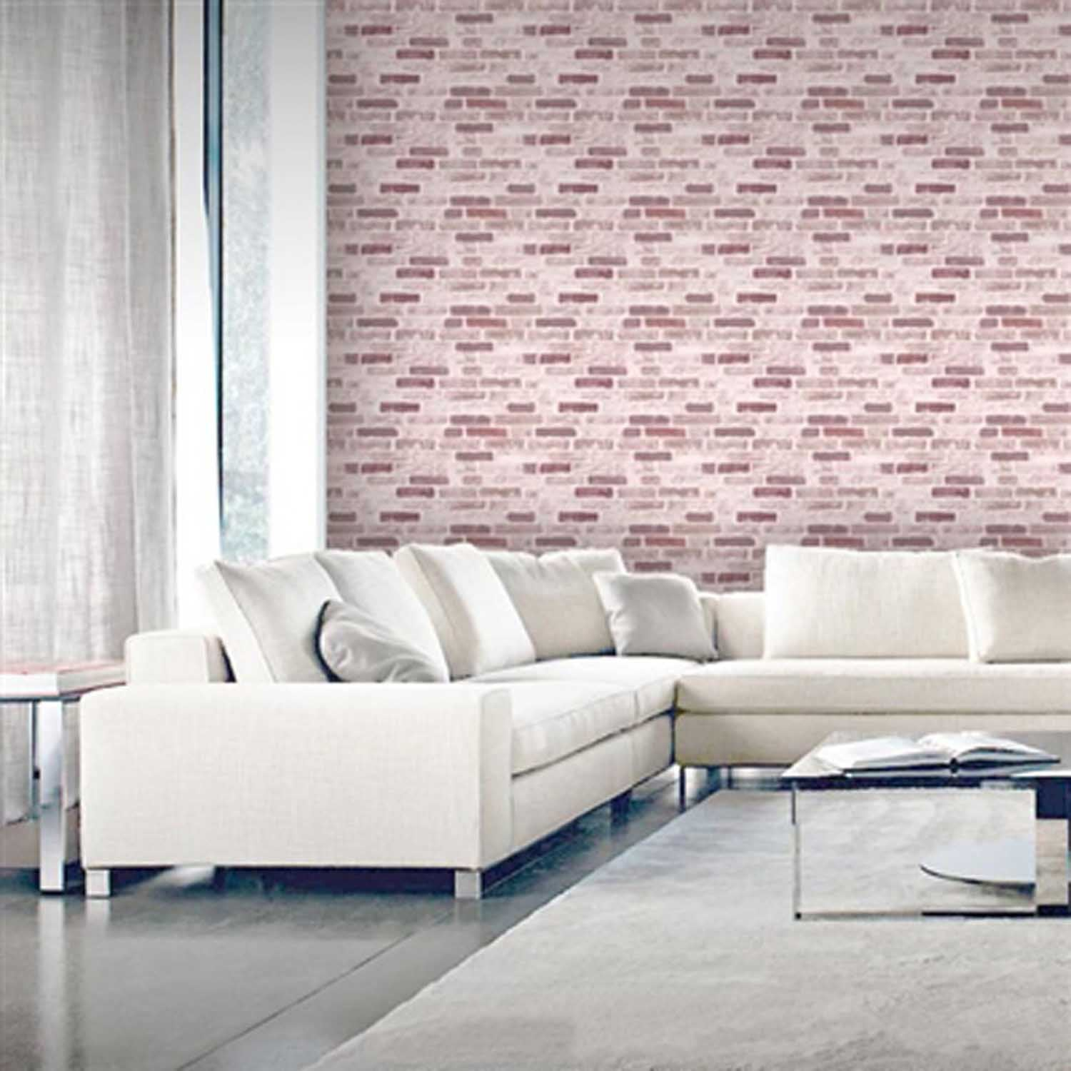 Great Value: Roman Brick Wallpaper |Red