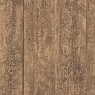 Oak Wood Effect Textured Wallpaper | Brown
