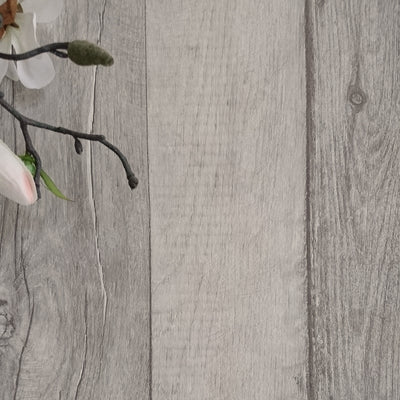 Timber Wood Effect Textured Wallpaper | Grey Taupe Toned washed effect - Your 4 Walls