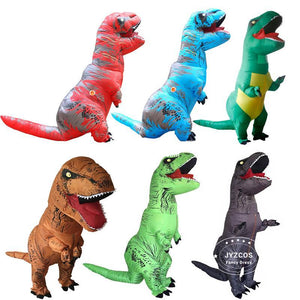 dinosaur t rex inflatable costume halloween cosplay party fancy dress