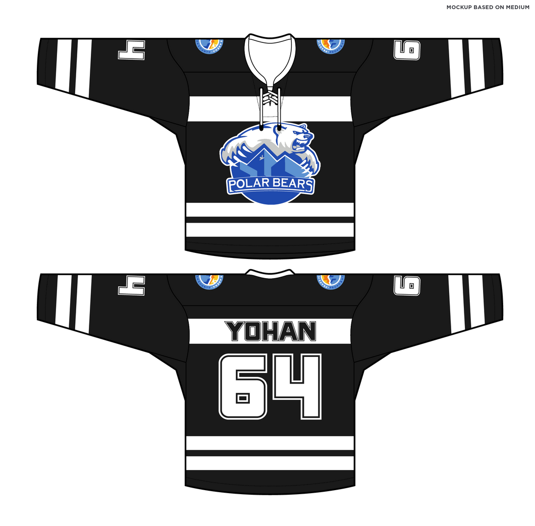 588-SUB Peaks Polar Bears Hockey Jersey Black