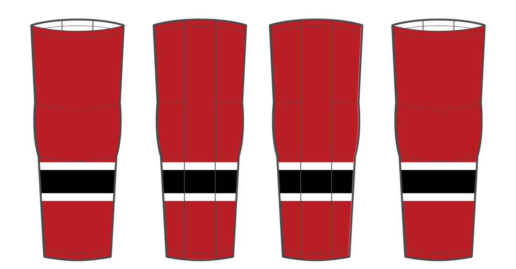 Adult UCI North Warriors Black Hockey Sock