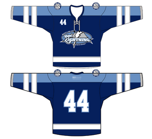 ADULT Lady Lightning Hockey Jersey (Navy)