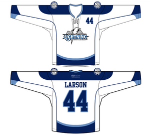 ADULT GOALIE Salt Lake Lightning Hockey Jersey (White)