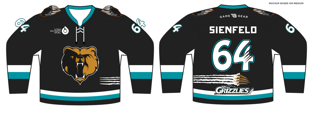 588-SUB Youth Grizzlies Hockey Jersey Black