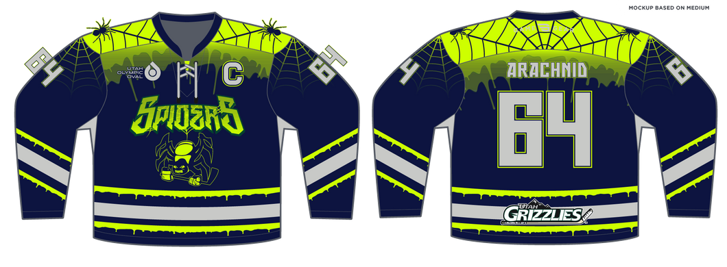 588-SUB Youth Spiders Hockey Jersey