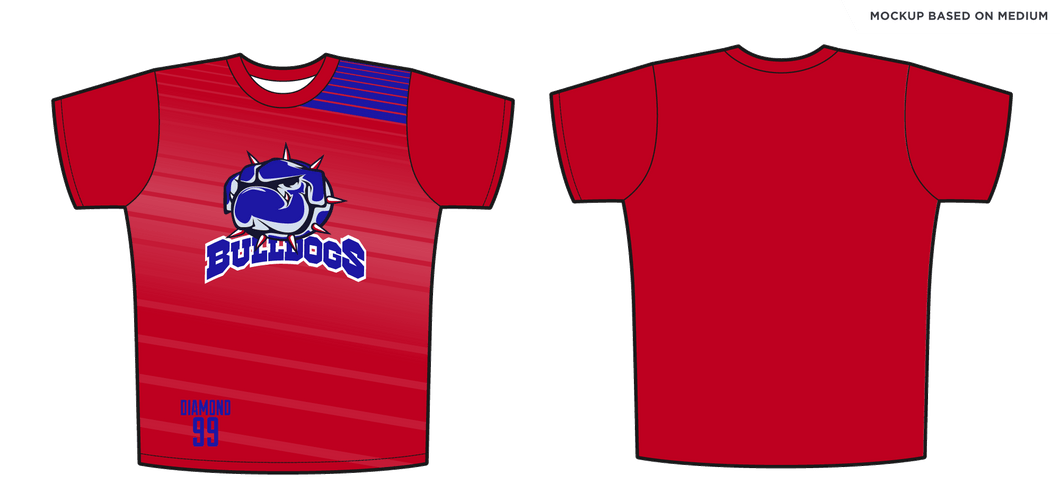 Adult Oval Hockey Bulldogs Full Sub T-Shirt