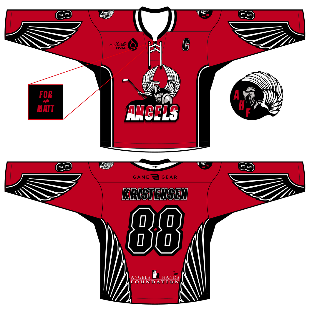 588-SUB Angels Hockey Jersey Red