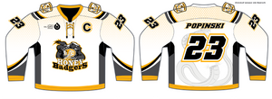 588-SUB Honey Badgers Hockey Jersey White
