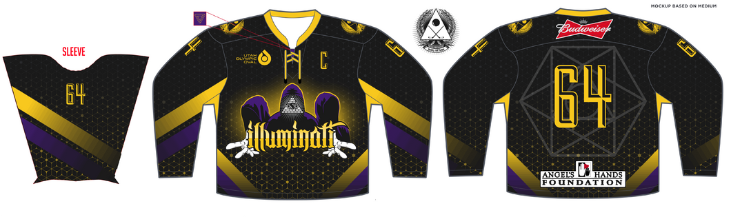 Adult Angels Hands Classic Illuminati Hockey Jersey