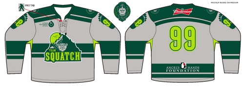 Adult Angels Hands Classic Squatch Hockey Jersey