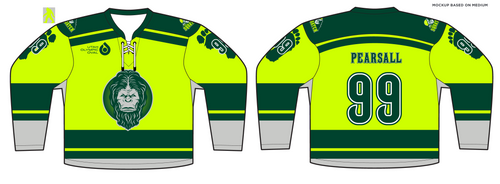588-SUB Squatch Hockey Jersey Lime