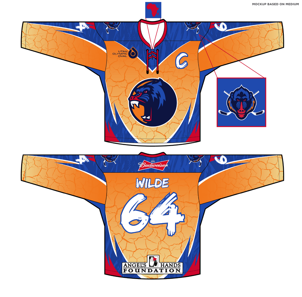 Adult Angels Hands Classic Wild Hockey Jersey