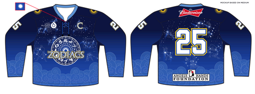 YOUTH Angels Hands Classic Zodiacs Hockey Jersey