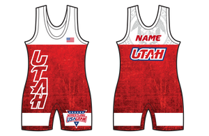 Boy's 2916-SUB USA Wrestling Utah Red Singlet