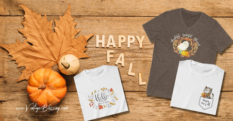 Happy Fall t-shirt cover image