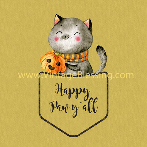 Happy Paw Y'all Kitty T-shirt