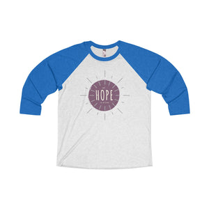 My Hope is in Him Tri-Blend Unisex 3/4 Raglan Tshirt