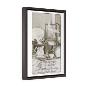Vintage Inspirational Wall Art - Vertical Framed Premium Gallery Wrap Canvas
