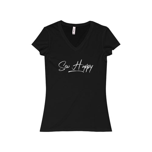 Sew Happy Women's Jersey Short Sleeve V-Neck Tee