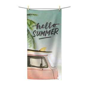 Hello Summer - Surf's Up - Summer Beach Towel