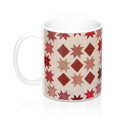 Printed Quilt Mugs - Star Stepping