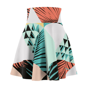 Chasin the Sun - Retro Triangle Palm - Women's Summer Skaters Skirt